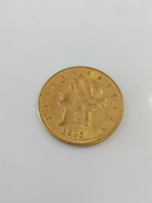 $20 U.S. Dollar Gold Coin Liberty Double Eagle 1895-S