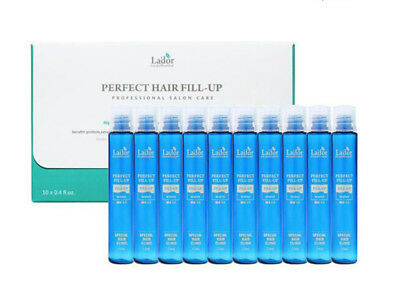 Lador Perfect Hair Fill-Up Ampoules Protein Damage Hair Treatment Care 13ml 10ea