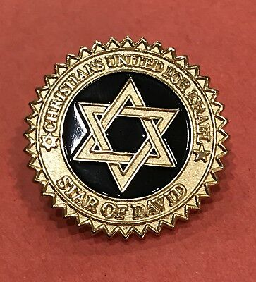 Christians United for Israel Star of David Label Pin Tie Tack