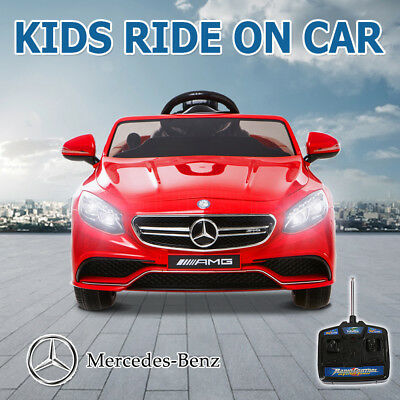 Licensed Mercedes Benz S63 AMG Kids Electric Ride on Car Children Battery Child