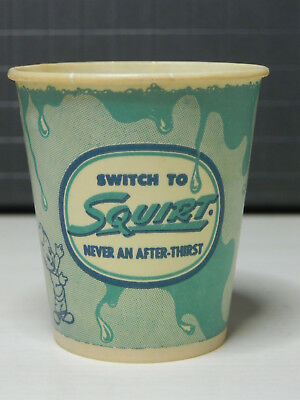 Squirt Soda Wax Sample Cup 1952 3 oz Rare