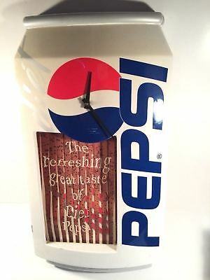 Vintage Diet Pepsi Animated Sign With Clock