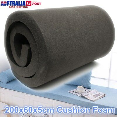 200x60x5cm Black High Density Seat Foam Cushion Sheet Replacement Upholstery Pad