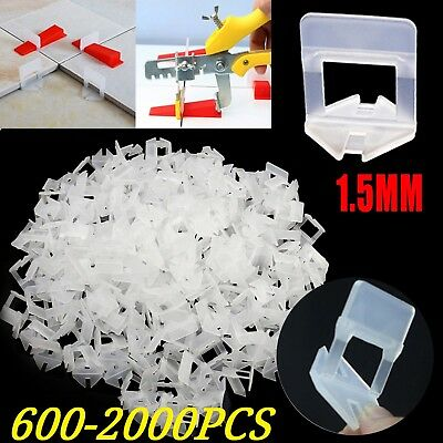 600-4000x Tile Leveling System Clips Levelling Tiling Spacer Tool Wall Floor AU