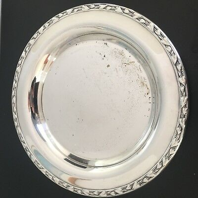 """Vintage 9"""" Silverplate Plate Dish Meadowbrook WM A Rogers"""