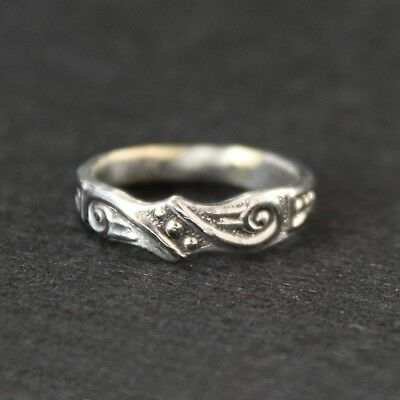 Antique Vintage - Silver Spoon Ring - Handcrafted from Antique cutlery - Size M