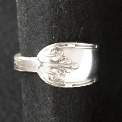 Antique Vintage - Silver Spoon Ring - Handcrafted from Antique cutlery - Size T