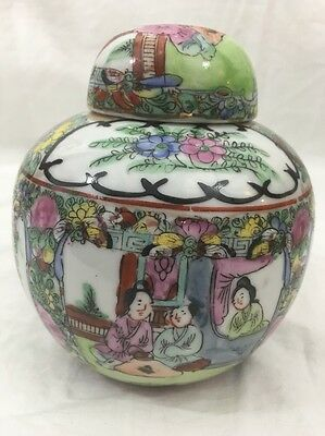Vintage ACF Japanese Porcelain Ware Decorated in Hong Kong - Hand Painted Vase