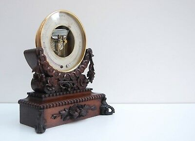 Naudet Barometer On Stand Retailed By Eg Wood London - Edwin Banfield Collection