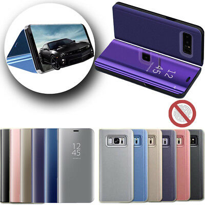 Smart Clear View Mirror Touch Case Leather Flip Stand Cover For Samsung Luxury