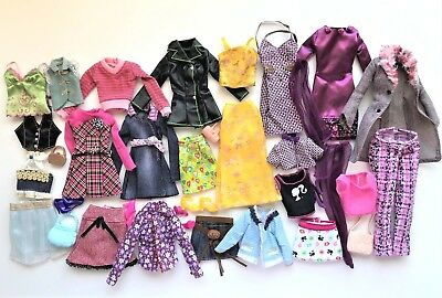 Lot of 35+ pcs Barbie Genuine Fashion Clothes & Accessories, Mix & Match #5