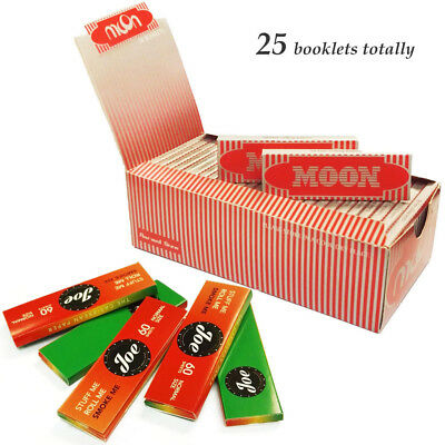 "Moon Red 1.0"" 25 booklets 70*36mm Cigarette Rolling Papers Wood Papers & Jo*e"