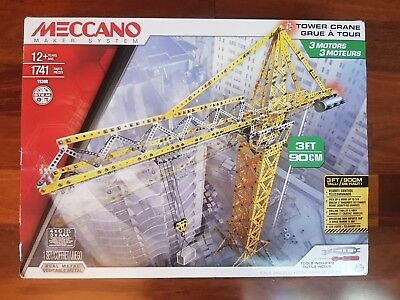 Meccano Tower Crane 1741Pcs - 15308 - New