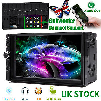 Car Vehicle Stereo 7inch Double Din In dash MP5 Player Radio FM AM USB AUX In