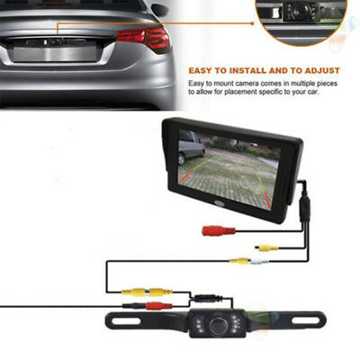 Waterproof CMOS HD Car Rear View Reverse Backup Camera Parking LED Night Vision