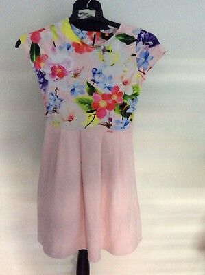 c5b930448 BNWT TED BAKER Girls Pink Scuba Peony Floral Dress - Age 12 Years ...