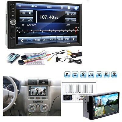 1PC 2DIN 7inch Car MP5 Player Bluetooth Touch Screen Stereo Radio HD+Rear Camera