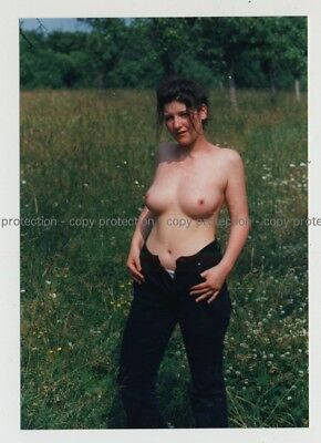 Natural Topless Female Undresses In Nature / Unbottened (Photo 1990s)