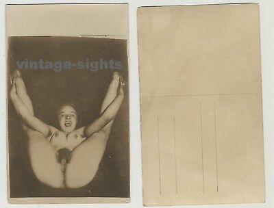 Wild Nude Woman With Hairy Armpits (Vintage Real Photo Postcard 1920s)