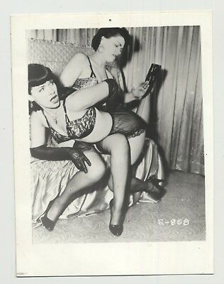 Bettie Page Gets Spanked By Female / BDSM - Gloves (Vintage Photo: Irving Klaw)