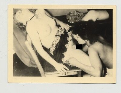 Darkhaired Nude Ready To Spoil Her Girlfriend / Lesbian INT (Vintage Photo 1930s
