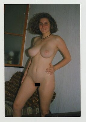 Voluptuous Natural Nude Woman / Shy - Thighs (Vintage Photo)