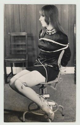 Female Secretary Tight To Office Chair / Heels - BDSM (Vintage Photo Master 1960