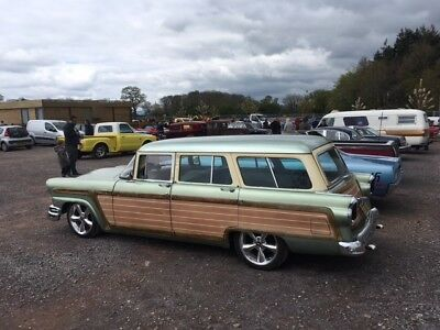 1955 ford country squire american wagon v8 hotrod auto woodie woody barnfind vw