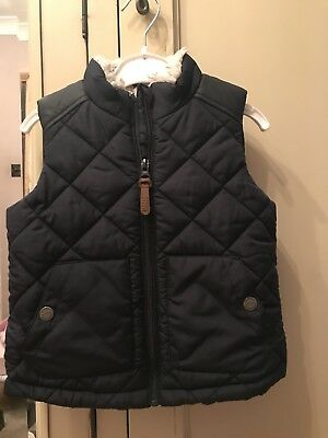 Next Boys Navy Blue Fleece Lined Body Warmer Age 1.5-2 Years 18-24 Months