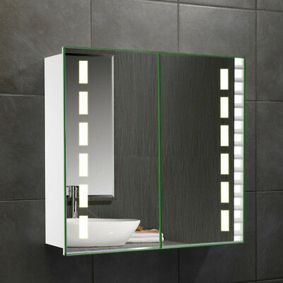Bathroom Mirror Cabinet With LED/Bluetooth/Shaver Socket/Motion Sensor/Demister & MODERN LED ILLUMINATED Mirror Bathroom Cabinet|Bluetooth|Shaver ...