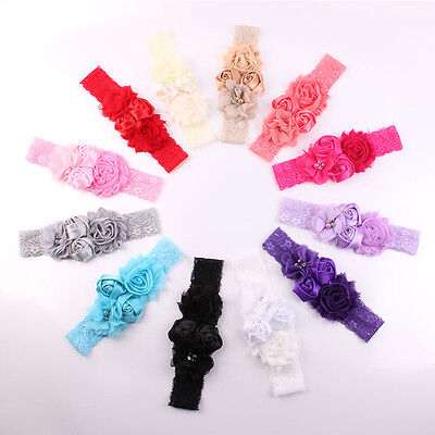 Lovely Baby Girl Hair Bow Headband Flowers Design Hairband Turban Knot Headwear