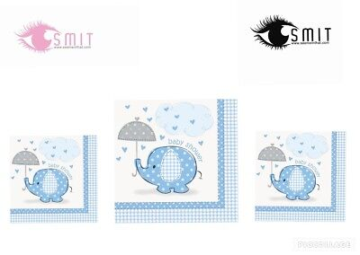 Baby Shower Boy Tableware Blue Party Supplies Boys-Umbrellaphants