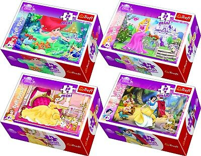 Trefl Disney 54 Piece 4 Mini Boxes The Princesses Girls Fantasy Jigsaw Puzzle