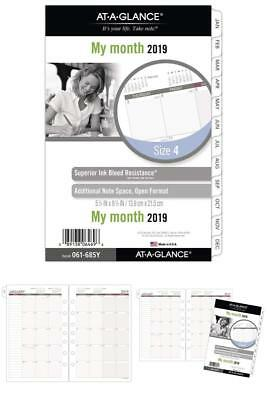 AT-A-GLANCE Day Runner Monthly Planner Refill, January 2019 - December 2019 new