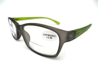 Gents Or Ladies Lightweight Bifocal Reading Glasses - New Style.