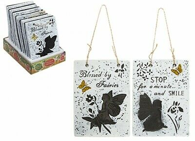 NEW HANGING WALL PLAQUES  3  DESIGNS GARDEN OUTDOOR WALL HANGING SIGN PLAQUE