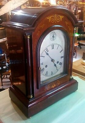 Antique bracket clock, circa 1890 , made by hack , just serviced