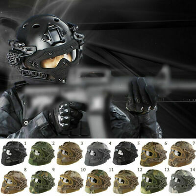Airsoft Tactical MH Style Helmet Mask Goggles G4 System Protective Gear