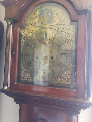 longcase clock grandfather clock scottish jas greig perth
