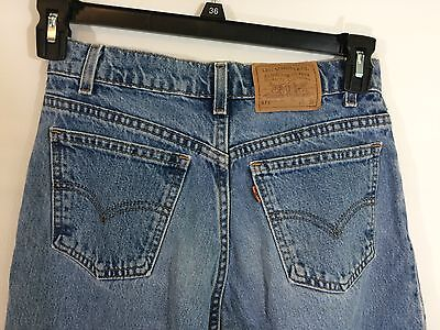 Vintage Levis 575 Jeans Orange Tab Wide Leg Denim Made in USA Distressed 28 x 31