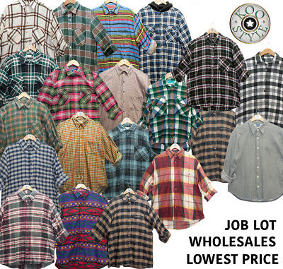 10 Pcs Vintage Flannels Unisex Wholesale Random Brand | Colours | Random Sizes