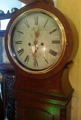 Art Deco Drum Grandfather Clock, eight day, fully serviced, unusual and rare