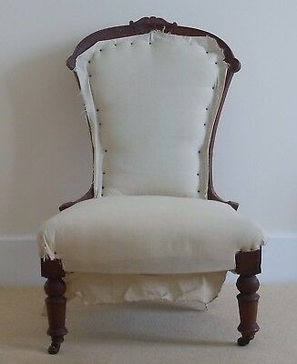 Antique Nursing Chair Ladies Chair Believed Edwardian only two families from new