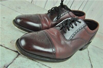 Loake Shoemakers Men's Tap Shoes Cherry Red Brogues Lace Up Uk Size 7.5 Width F