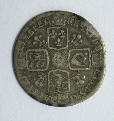 Great Britain 6 Pence 1728 Silver Coin in VF- Condition #Er