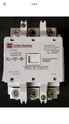 EATON CUTLER HAMMER A202K4CAM Latched Lighting Contactor 120V 3P 200A NEW