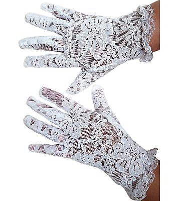 White Lace Communion Gloves Toddlers Super Cute for Boys & Girls. Outfit Gloves