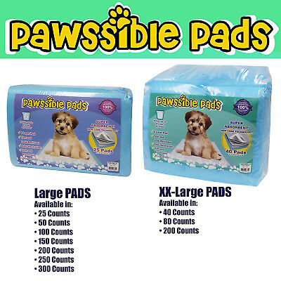 Pawssible Training Pads for Dogs & Cats. Finest Quality Pads for ANY SIZE of Pet