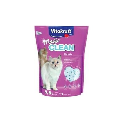 VITAKRAFT MAGIC CLEAN SILICE GATOS 3.8 LITROS Vitakraft Plantas Jardín y Mascota