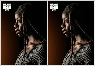 2x EMBER MICHONNE Topps Walking Dead Trader Digital Card